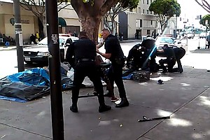 Video Shows L.A. Police Shot And Killed Man On Sidewalk