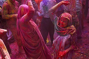 For India's Widows, A Riot Of Color, An Act Of Liberation