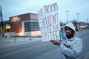 In Ferguson, The Shooting Of 2 Officers Stirs A Long-Simm...
