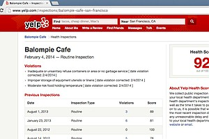 Did That Restaurant Pass Its Health Inspection? Now Yelp Will Tell You