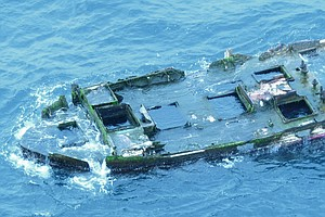 Part Of Fishing Boat Destroyed In Japan Tsunami Appears O...