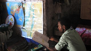 Gezahegn Derebe, 20, left his village to come to Gondar, Ethiopia, the hub for Ethiopia's Jewish community, where he prepared for a new life in Israel. Now, more than a decade later, he remains in Gondar, while other members of his family have made a new life in Israel.