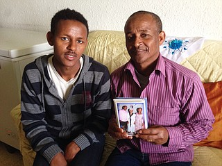 Habtu and his father Tachelo — Derebe's cousin and uncle — live in Tel Aviv. They were able to immigrate to Israel before tougher rules were put into place.
