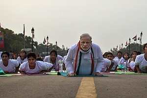35,000 Bend It With Modi As India Launches World Yoga Day