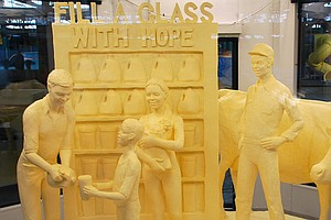 A Toast To Butter Sculpture, The Art That Melts The Heart...