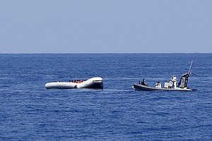 Search For Survivors Of Capsized Boat Off Libya Continues...