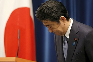 Japan's Abe Notes Regret And Past Apologies In WWII Speech