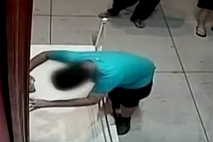 VIDEO: 12-Year-Old Boy Trips, Rips Hole In $1.5 Million P...