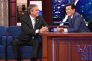 On The Late Show, The Spotlight Was Just Out Of Reach For Jeb Bush
