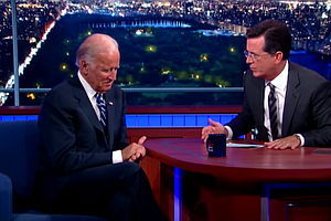 On 'Colbert,' An Emotional Biden Still Doesn't Sound Like...