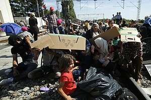 Unable To Get Into Hungary, Thousands Of Migrants Try Cro...
