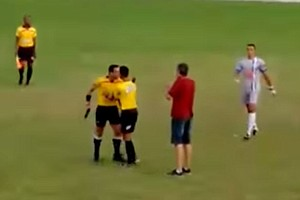 Referee Takes Gun Onto Soccer Field After Spat With Players In Brazil