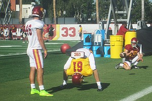 A Blind Football Player Joins His Trojan Heroes On The Field
