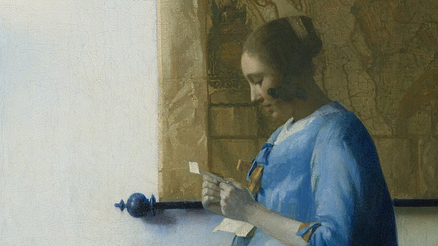 the letter people vermeer s 1663 work in blue reading a letter is 1663