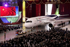 China Unveils Its First Commercial Jet To Compete With Boeing, Airbus