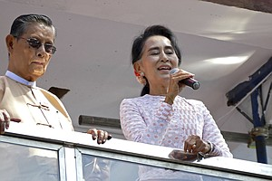 Opposition Party Headed For Win In Myanmar's First Free Election In 25 Years
