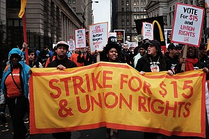 Push For $15 Minimum Wage Becoming Part Of Presidential P...