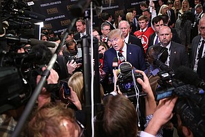 Heading Into Iowa, GOP Candidates Clash But Fail To Derail The Trump Express