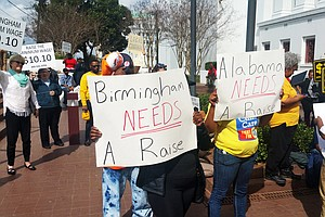 Alabama Fast-Food Workers Rally To Defend City's Wage Hike