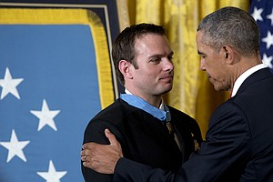 President Obama Presents Medal Of Honor To Navy SEAL Hero