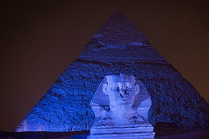 She Turned The Pyramids Blue — And Got Egyptians To Talk ...