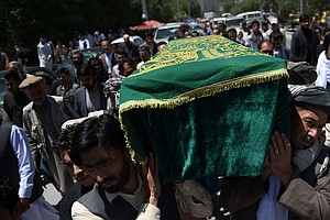 Afghan Journalist Zabihullah Tamanna Laid To Rest In Kabul