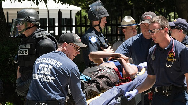 Multiple people stabbed at white nationalist rally in CA