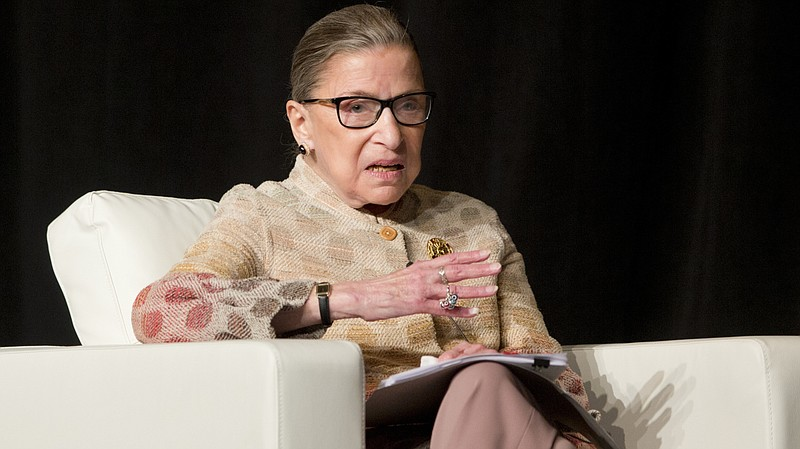 Justice Ruth Bader Ginsburg at a conference in Saratoga Springs, N.Y., in 2016.