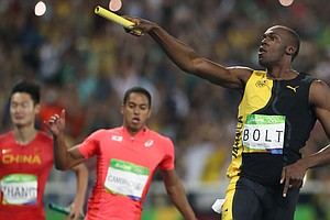 Usain Bolt Makes History With A Triple-Triple As Jamaica Wins Sprint Relay