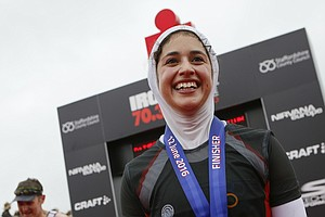 She's Determined To Be A Triathlete, Even If It Means Wearing A Hijab