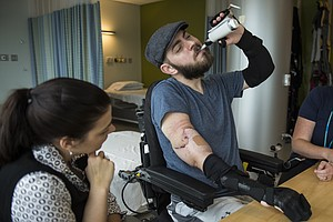 Retired Marine Receives A Double Arm Transplant