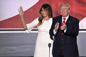 Melania Trump Stands By Her Husband, Dismisses Comments A...