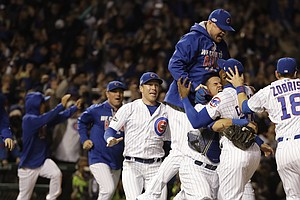 Chicago Cubs Beat Los Angeles Dodgers To Enter World Series For First Time Si...