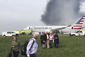 Airliner Catches Fire At Chicago's O'Hare Airport; No Ser...