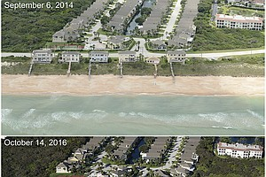Hurricane Matthew Took A Big Bite Out Of Southeastern States' Beaches