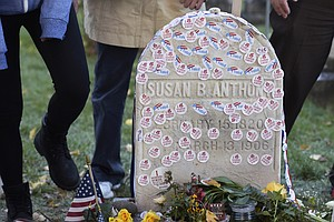 At Susan B. Anthony's Grave, Visiting Hours Extended For ...