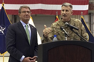 Defense Secretary Ash Carter Makes Surprise Visit To Afgh...