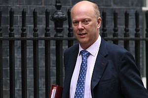 Britain's Transport Secretary Doors Cyclist, As Seen In V...