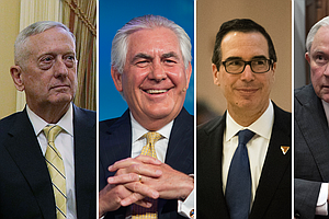 How The Donald Trump Cabinet Stacks Up, In 3 Charts