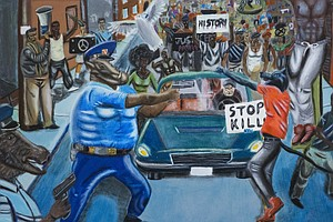 Student Painting Depicting Cops As Animals Sparks Tensions On Capitol Hill