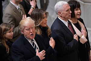 Trumps And Pences Attend Interfaith Inaugural Prayer Service