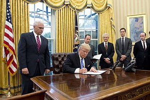Trump Signs 3 Executive Orders, Including Withdrawal From...