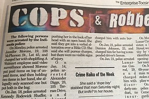 In Lighthearted Turn / Newspaper Takes Crime Reports / An...