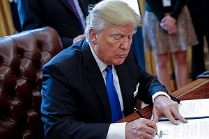 Trump Signs A Record Number Of Executive Actions — But Nothing About Ethics