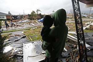 After Tornadoes Hit In And Around New Orleans, Wall Of Storms Moves East