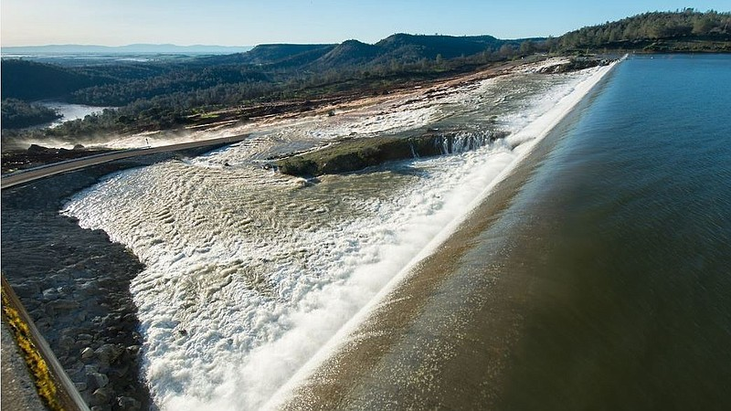 Map Of California Oroville Dam.Signs Of Hope At Oroville Dam After Overflow Sparked Large