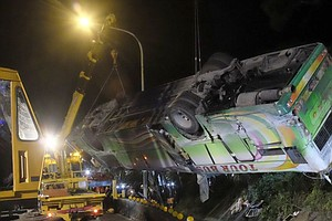 At Least 32 People Killed In Tour Bus Crash In Taiwan