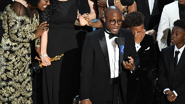 Barry Jenkins accepts the Academy Award for best picture ...