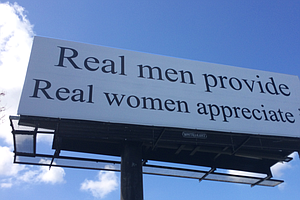 Billboard About Gender Roles Sparks Debate, Protest In No...