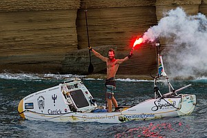 In An International First, Surfer Conquers The Atlantic Alone On A Paddleboard